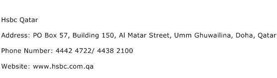 Hsbc Qatar Address Contact Number