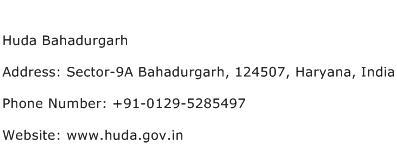 Huda Bahadurgarh Address Contact Number