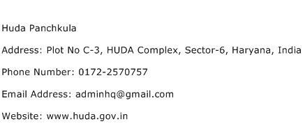 Huda Panchkula Address Contact Number