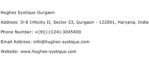Hughes Systique Gurgaon Address Contact Number