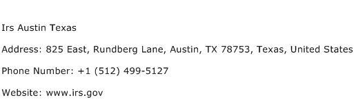 IRS Austin Texas Address Contact Number