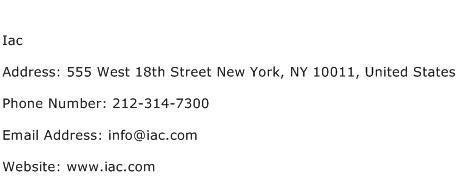 Iac Address Contact Number