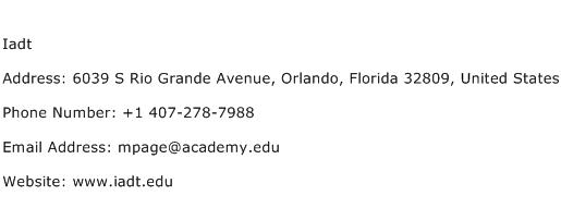Iadt Address Contact Number