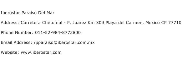 Iberostar Paraiso Del Mar Address Contact Number