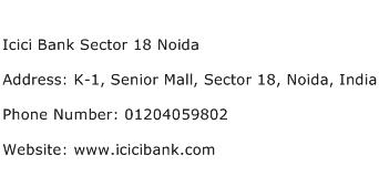 Icici Bank Sector 18 Noida Address Contact Number