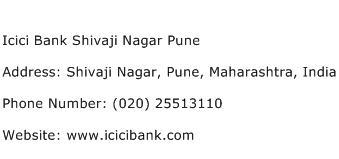Icici Bank Shivaji Nagar Pune Address Contact Number