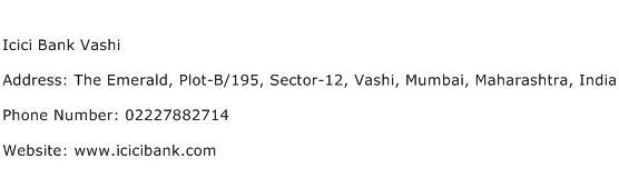 Icici Bank Vashi Address Contact Number