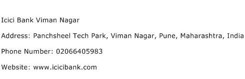Icici Bank Viman Nagar Address Contact Number