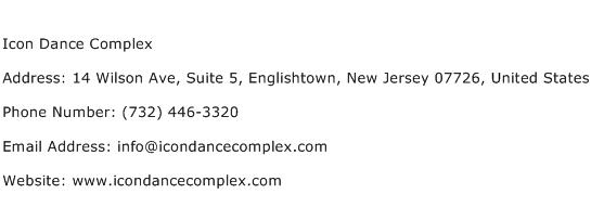 Icon Dance Complex Address Contact Number