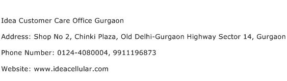 Idea Customer Care Office Gurgaon Address Contact Number
