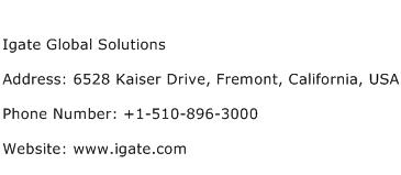 Igate Global Solutions Address Contact Number