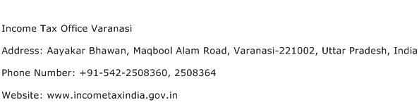 Income Tax Office Varanasi Address Contact Number