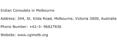 Indian Consulate in Melbourne Address Contact Number