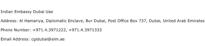 Indian Embassy Dubai Uae Address Contact Number