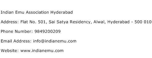 Indian Emu Association Hyderabad Address Contact Number