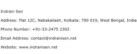 Indrani Sen Address Contact Number