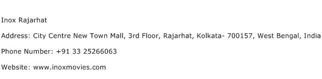 Inox Rajarhat Address Contact Number