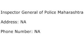 Inspector General of Police Maharashtra Address Contact Number
