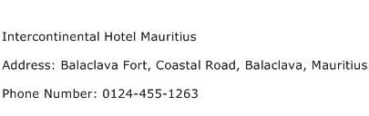 Intercontinental Hotel Mauritius Address Contact Number