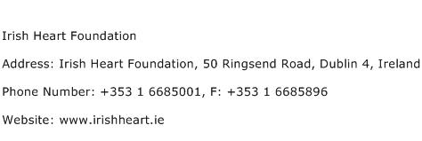 Irish Heart Foundation Address Contact Number
