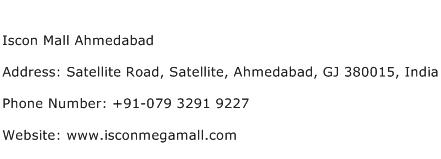 Iscon Mall Ahmedabad Address Contact Number