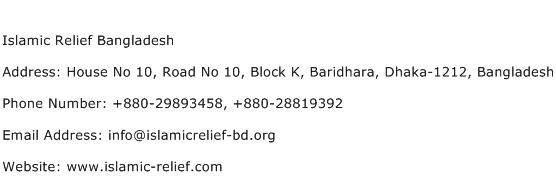 Islamic Relief Bangladesh Address Contact Number