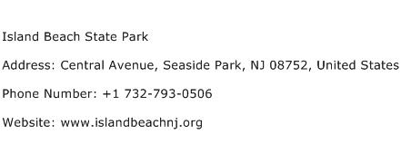 Island Beach State Park Address Contact Number