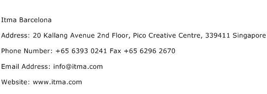 Itma Barcelona Address Contact Number