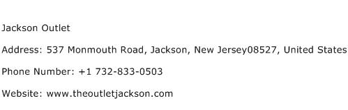 Jackson Outlet Address Contact Number