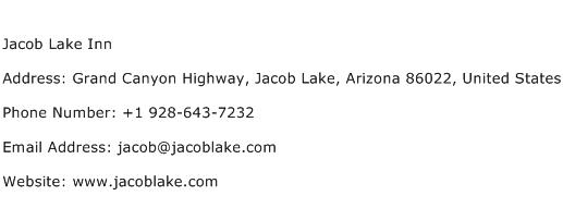 Jacob Lake Inn Address Contact Number