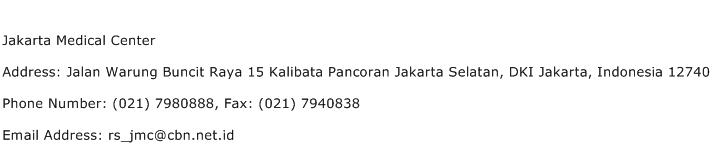 Jakarta Medical Center Address Contact Number