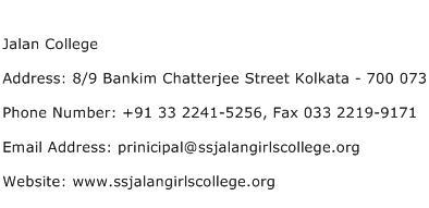 Jalan College Address Contact Number