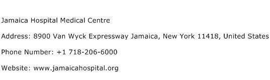 Jamaica Hospital Medical Centre Address Contact Number