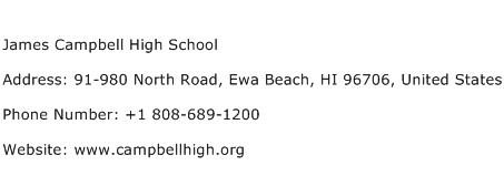 James Campbell High School Address Contact Number