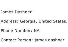 James Dashner Address Contact Number