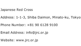 Japanese Red Cross Address Contact Number