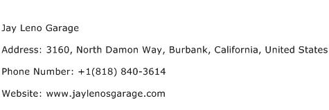 Jay Leno Garage Address Contact Number