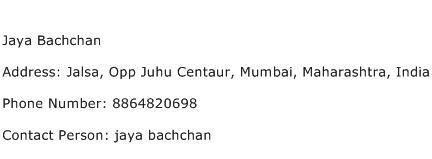 Jaya Bachchan Address Contact Number