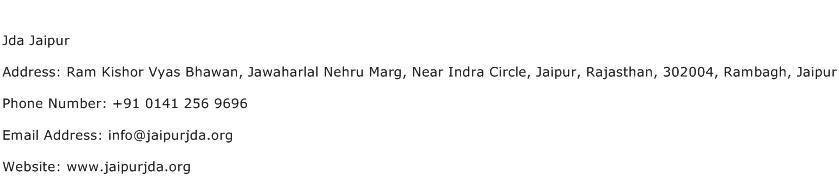 Jda Jaipur Address Contact Number
