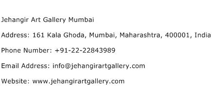 Jehangir Art Gallery Mumbai Address Contact Number