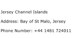 Jersey Channel Islands Address Contact Number