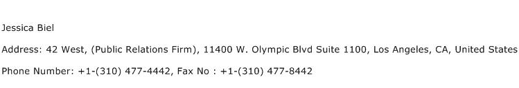 Jessica Biel Address Contact Number