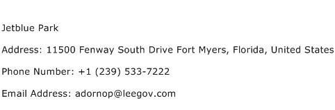 Jetblue Park Address Contact Number