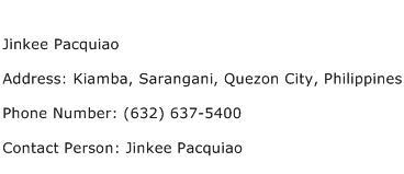Jinkee Pacquiao Address Contact Number