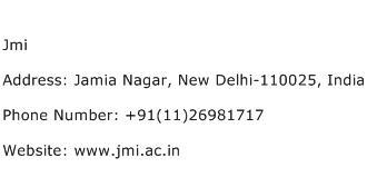Jmi Address Contact Number