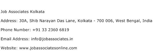 Job Associates Kolkata Address Contact Number