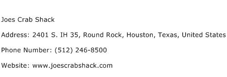 Joes Crab Shack Address Contact Number