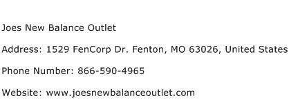 Joes New Balance Outlet Address Contact Number