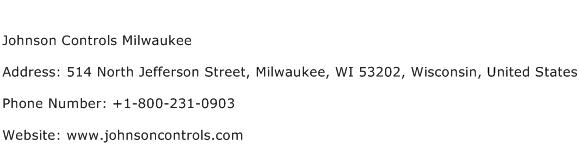 Johnson Controls Milwaukee Address, Contact Number of