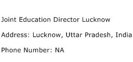 Joint Education Director Lucknow Address Contact Number